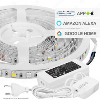 V-Tac VT-5050 Striscia LED Smart Light Wi-Fi 10W 60 LED/metro RGB+W Dimmerabile - SKU 2584