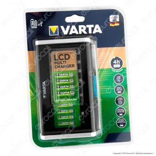 Varta Caricabatterie AA / AAA Con Display LCD e Presa USB