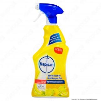 Napisan Spray Igienizzante Multisuperfici Potere Sgrassante - Spray da 750ml