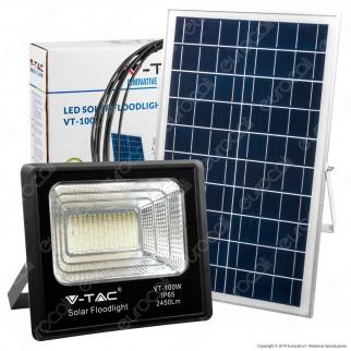V-Tac VT-100W Faro LED 100W a Batteria con Pannello Solare e Telecomando - SKU 8576 / 94012