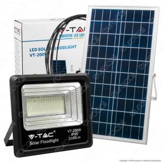 V-Tac VT-200W Faro LED 200W a Batteria con Pannello Solare e Telecomando - SKU 8577 / 94026