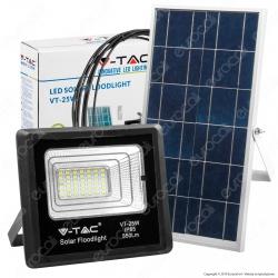 V-Tac VT-25W Faro LED 12W a Batteria con Pannello Solare e Telecomando - SKU 8573 / 94006