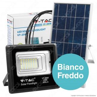 V-Tac VT-25W Faro LED 25W a Batteria con Pannello Solare e Telecomando - SKU 8573 / 94006