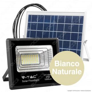 V-Tac VT-40W Faro LED 40W a Batteria con Pannello Solare e Telecomando - SKU 8574 / 94008