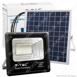 V-Tac VT-60W Faro LED 20W a Batteria con Pannello Solare e Telecomando - SKU 8575 / 94010