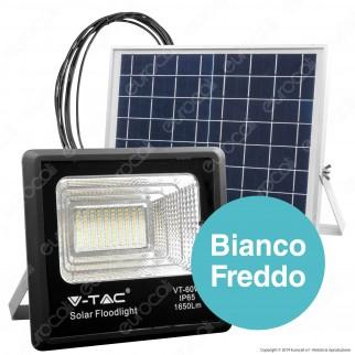 V-Tac VT-60W Faro LED 60W a Batteria con Pannello Solare e Telecomando - SKU 8575 / 94010