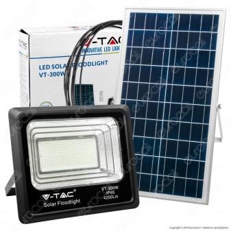 V-Tac VT-300W Faro LED 300W a Batteria con Pannello Solare e Telecomando - SKU 8578 / 94027