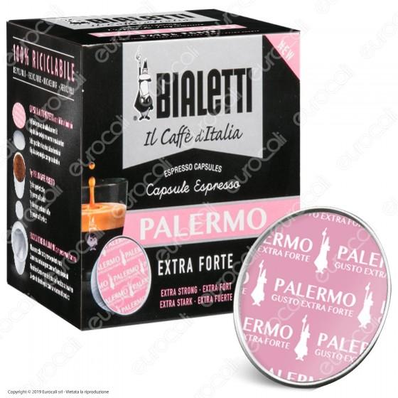 16 Capsule Caffè Bialetti Palermo Gusto Exra Forte Cialde Originali Bialetti