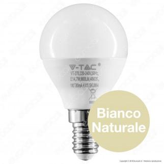 10 Lampadine V-Tac PRO VT-270 Lampadina LED E14 7W MiniGlobo P45 Chip Samsung - Pack Risparmio