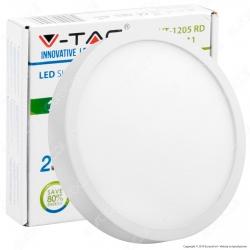 V-Tac VT-1205 RD Pannello LED Rotondo 12W - SKU 4910 / 4911 / 4912