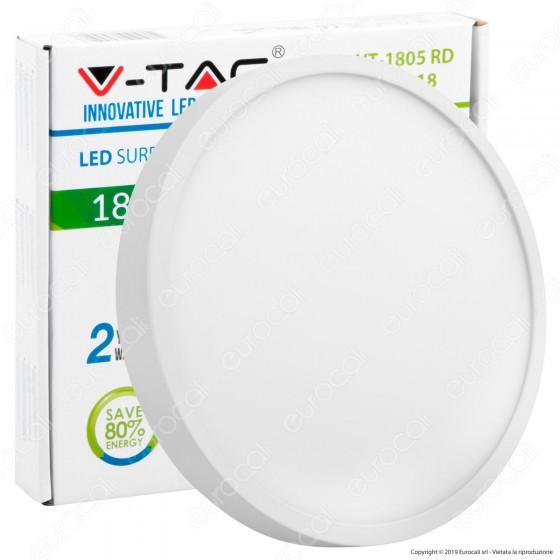 V-Tac VT-1805 RD Pannello LED Rotondo 18W - SKU 4916 / 4917 / 4918