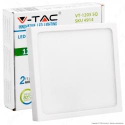 V-Tac VT-1205 SQ Pannello LED Quadrato 12W - SKU 4913 / 4914