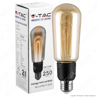 V-Tac VT-2235 Lampadina LED E27 5W Bulb T60 Ambrata - SKU 2749