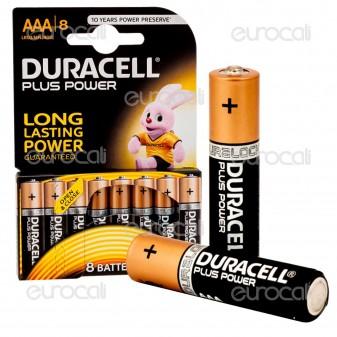 Duracell Plus Power Alcaline Ministilo AAA - Blister 8 Batterie