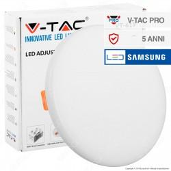 V-Tac PRO VT-619 Pannello LED Rotondo 18W SMD da Incasso con Driver con Chip Samsung - SKU 733 / 734 / 735