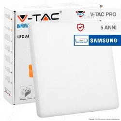 V-Tac PRO VT-619 Pannello LED Quadrato 18W SMD da Incasso con Driver con Chip Samsung - SKU 736 / 737 / 738