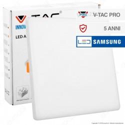 V-Tac PRO VT-625 Pannello LED Quadrato 24W SMD da Incasso con Driver con Chip Samsung - SKU 742 / 743 / 744
