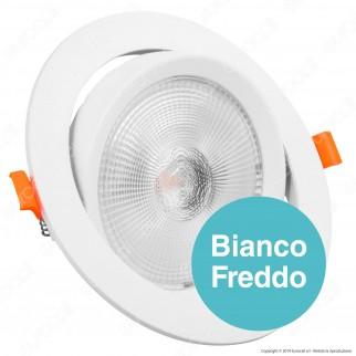 V-Tac PRO VT-2-20 Faretto LED da Incasso Rotondo 20W COB Chip Samsung - SKU 842 / 843 / 844
