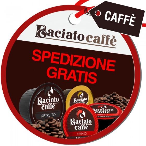Spedizione Gratuita su Tutto l'Ordine Acquistando Capsule Baciato Caffè