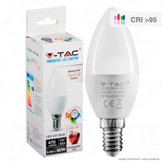 V-Tac VT-2226 Lampadina LED E14 5,5W Candela CRI ≥95 - SKU 7494 / 7495 / 7496