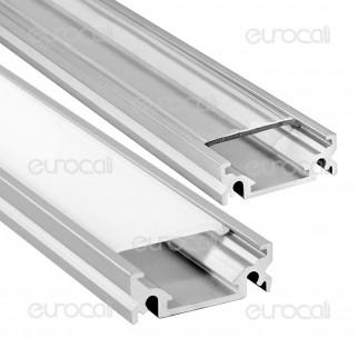 V-Tac Profilo in Alluminio per Strisce LED mod. 9985 - Lunghezza 1 metro - SKU 9985 / 9986