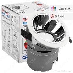 V-Tac VT-2911Faretto LED da Incasso Rotondo e Orientabile COB CREE 10W CRI≥95 - SKU 1481 / 1482