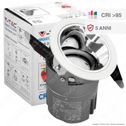 V-Tac VT-2907 Faretto LED da Incasso Rotondo e Orientabile COB CREE 6W CRI≥95 - SKU 1479 / 1480