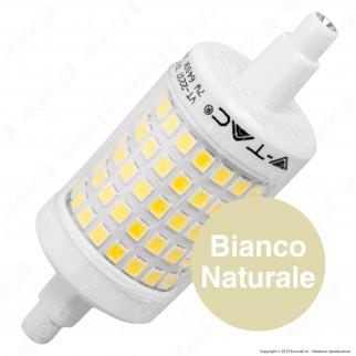 V-Tac VT-2237 Lampadina LED R7s L78 7W Bulb Tubolare - SKU 2714 / 2715