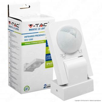 V-Tac VT-8083 Sensore di Movimento a Infrarossi per Lampadine Colore Bianco - SKU 1500