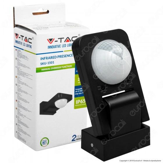 V-Tac VT-8083 Sensore di Movimento a Infrarossi per Lampadine Colore Bianco - SKU 1501