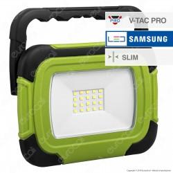 V-Tac PRO VT-10R Faro LED SMD 10W Ricaricabile a Batteria con Chip Samsung - SKU 503