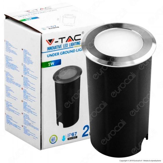 V-Tac VT-1151 Punto Luce LED 1W Segnapasso da Interramento IP67 - SKU 1464