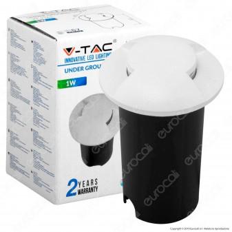 V-Tac VT-1161 Punto Luce LED Bilaterale 1W Segnapasso da Interramento IP67 - SKU 1465 / 1467