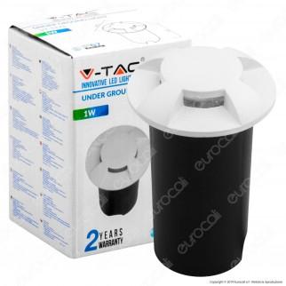 V-Tac VT-1171 Punto Luce LED 1W Segnapasso da Interramento IP67 Colore Bianco - SKU 1465 / 1467