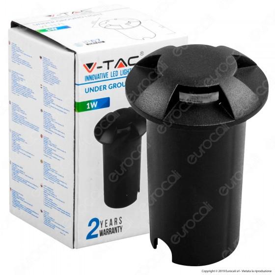 V-Tac VT-1171 Punto Luce LED 1W Segnapasso da Interramento IP67 Colore Bianco - SKU 1470 / 1472