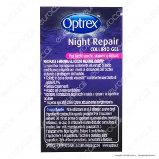 Optrex Night Repair Collirio Gel per Occhi Secchi, Stanchi e Irritati - Flacone da 10ml