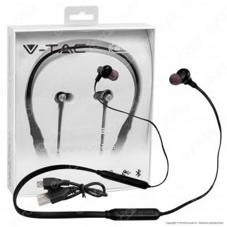 V-Tac VT-6166 Coppia di Auricolari Bluetooth Sports Earphones Colore Nero - SKU 7710