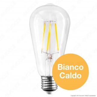 V-Tac VT-2105D Lampadina LED E27 4W Bulb ST64 Filamento Dimmerabile - SKU 7414