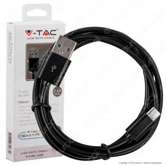 V-Tac VT-5332 USB Data Cable Micro USB Cavo Colore Nero 1,5m - SKU 8448
