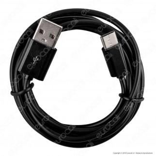 V-Tac VT-5542 USB Data Cable Type-C Cavo Colore Nero 1,5m - SKU 8454