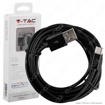 V-Tac VT-5543 USB Data Cable Type-C Cavo Colore Nero 3m - SKU 8455