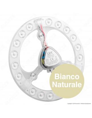 Life Modulo LED Circolina con Magnete Ø185mm 18W per Plafoniere - mod. 39.942418N