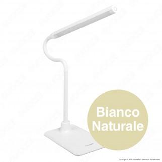 Velamp Lampada da Tavolo LED 6W Touch Dimmerabile Colore Bianco - mod. TL1606