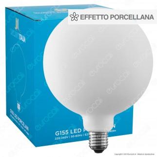 Daylight Lampadina E27 Filamento LED 6W Globo G155 Effetto Porcellana Dimmerabile - mod. 700222.01A