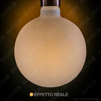 Daylight Lampadina E27 Filamento LED 6W Globo G155 Effetto Porcellana Dimmerabile CRI≥90 - mod. 700222.01A