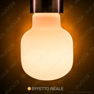 Daylight MILO Lampadina E27 Filamento LED 6W Tubolare Effetto Porcellana Dimmerabile CRI≥90 - mod. 700243.0IA