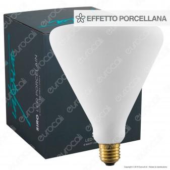 Daylight SIRO Lampadina E27 Filamento LED 6W Reflector R143 Effetto Porcellana Dimmerabile CRI≥90 - mod. 700245.0IA