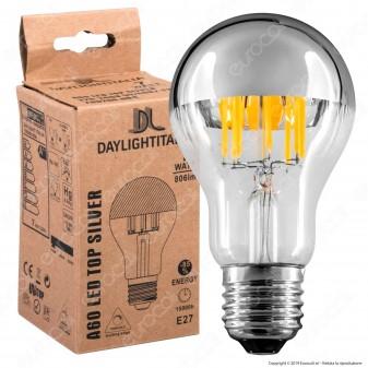 Daylight Lampadina E27 Filamenti LED 7W Bulb A60 con Calotta Cromata Dimmerabile - mod. 700200.0DA