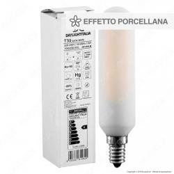 Daylight Lampadina E14 Tubolare T30 Filamento LED 4W Effetto Porcellana Dimmerabile CRI≥90 - mod. 700258.00L
