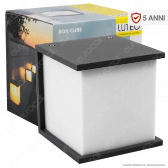 Lutec Box Cube Portalampada da Giardino Wall Light da Muro per Lampadine E27 - mod. 5184601118